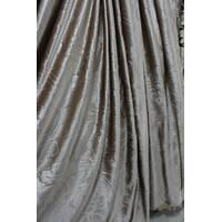 Ткань для штор тиснённый бархат коричневый купить в Украине