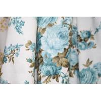 Тканина для штор з блакитними квітами купити недорого