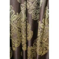 Шторы ткань в гостиную корона шоколад купить в розницу