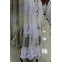 Тюль-гардина біла корона на фатині 3 ряди купити в Тернополі