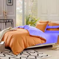 Подростковое двустороннее постельное белье Оранжевый + Сирень
