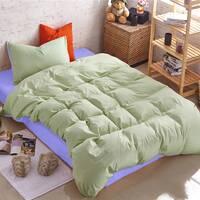 Подростковое двустороннее постельное белье Олива + Сирень