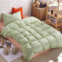 Подростковое двустороннее постельное белье Коралл + Олива