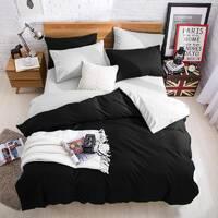 Подростковое двустороннее постельное белье Черный + Белый