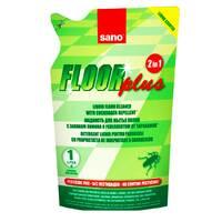 Средство для мытья пола Sano Floor Plus 2 в 1 с лимонным запахом для отпугивания тараканов (экопак), 750 мл.