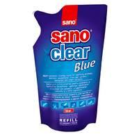 Засіб для миття скла Sano Clear Blue, запаска 750 мл