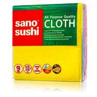 Міцні якісні багатоцільові ганчірки Sano Sushi, 3 шт.