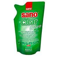 Засіб для миття скла Sano Clear Green, 750 мл запаска