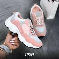 Стильные розовые кроссовки 11864 (ЯМ)