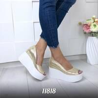 Туфли на платформе с открытым носком 11818 (ЯМ)