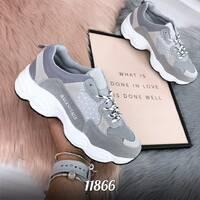 Стильные серые кроссовки 11866 (ЯМ)