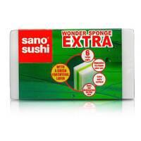 Набір губок багатофункціонального застосування Sano Sushi Wonder sponge EXTRA 6 шт