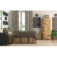 Декоративна тканина для штор подушок і чохлів в тонку чорну світло-коричневу і сіру смугу на білому з тефлоном 051670v3