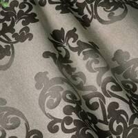 Декоративна тканина для штор покривал подушок вензель коричневий Іспанія 400168v4