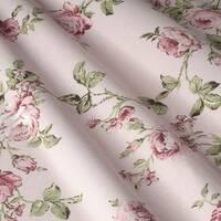 Тканина штори для штор подушок чохлів рожеві квіти з оливковими листочками