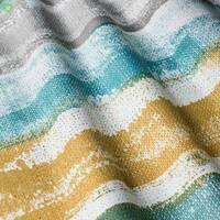 Декоративна тканина для штор покривал подушок з розмитими блакитними і коричневими смугами Іспанія 400316v3