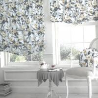 Декоративная ткань с мелкими светло-бордовыми цветками на длинных зеленых стебельках Турция 081454v6