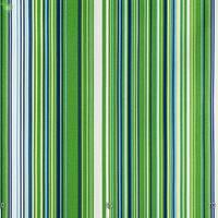 Декоративна тканина для штор подушок чохлів в тонку зелену блакитну і синю смугу з тефлоном 051670v2