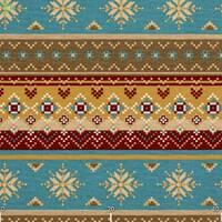 Декоративна тканина для штор покривал чохлів з візерунком бежевого червоного і блакитного кольору тефлон 071294v1