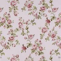Декоративна тканина для штор дрібні пурпурні трояндочки в узорах з тефлоном 9755v15