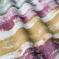Декоративна тканина для штор покривал подушок з розмитими фіолетовими і помаранчевими смугами Іспанія 400316v2