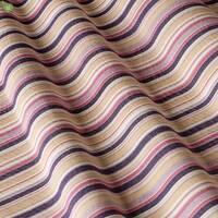 Вулична тканина для покривал і подушок в тонку бузкову і фіолетову смугу на рожевому Іспанія