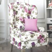 Декоративна тканина для штор подушок чохлів з великими голубими і синіми квітами на зелених гілочках