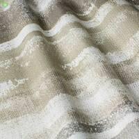 Декоративна тканина для штор покривал подушок з розмитими бежевими і сірими смугами в стилі лофт Іспанія 400316v1