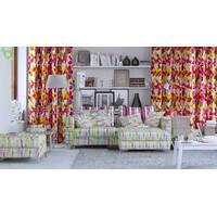 Декоративна тканина для штор подушок чохлів яскрава розмита смужка фіолетового і рожевого кольору Іспанія 400302v1