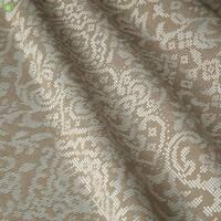 Декоративна тканина для штор з сріблястим класичним візерунком на сірому тлі жаккард Іспанія 400313v1