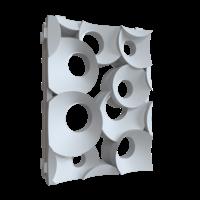 """3D перегородка """"Кольца"""" пара"""