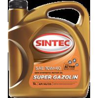 Масло моторное 10W-40, Sintec, Super Gazolin SG/CD,   5л, п/синт