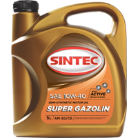 Масло моторное 10W-40, Sintec, Super Gazolin SG/CD,   4л, п/синт