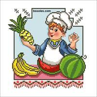 """Канва для вишивання бісером """"Весела Кухня 05"""""""