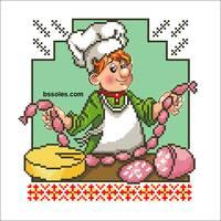 """Набір для вишивання бісером """"Весела Кухня 04"""""""