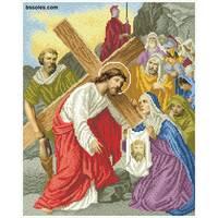 """Канва для вишивання бісером """"Вероніка витирає Ісусове обличчя (Хресна дорога 6)"""""""