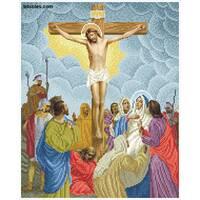 """Канва для вишивання бісером """"Ісус умирає на хресті(Хресна дорога 12)"""""""