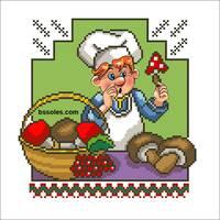 """Канва для вишивання бісером """"Весела Кухня 02"""""""