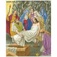"""Канва для вишивання бісером """"Тіло Ісуса кладуть до гробу(Хресна дорога 14)"""""""