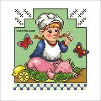 """Канва для вишивання бісером """"Весела Кухня 06"""""""