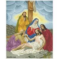 """Канва для вишивання бісером """"Ісуса знімають з хреста(Хресна дорога 13)"""""""