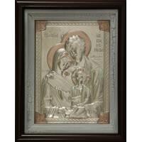 Ікона Святе Сімейство 29х25см срібло_157