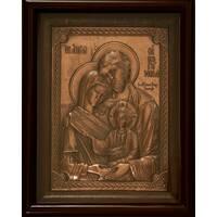 Ікона Святе Сімейство 29х25см мідь_156