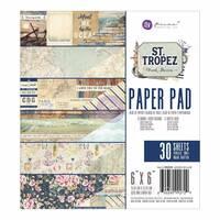 Набір паперу 15х15см Prima Marketing Double - Sided Paper Pad - St. Tropez