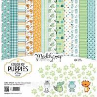 Набор скрап паперу 30х30см від ModaScrap - Color Of Puppies Boy