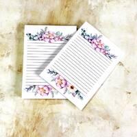 Набір листів у блокнот А6, двосторонній друк - дизайн 1