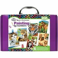 Подарунковий набір з 6 картин для малювання по номерах - RTN - 202
