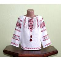 Вышитая рубашка украинская для девочки. Ручная работа