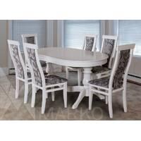Комплект стол Эдельвейс + стулья Эдельвейс белый купить в Украине