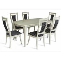 Комплект стол Маркиз + стулья Маркиз слоновая кость купить в Луцке